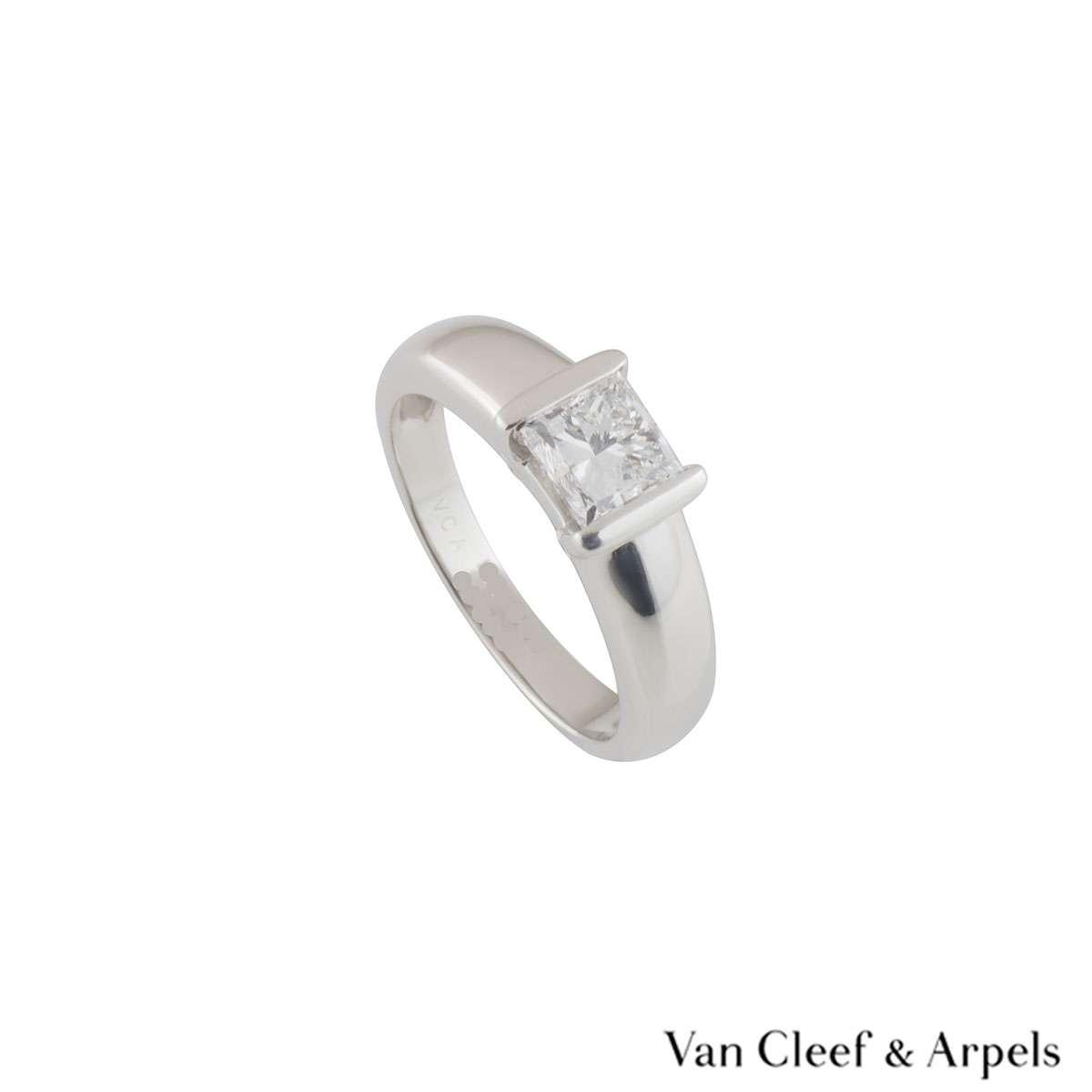 Van Cleef & Arpels White Gold Diamond Ring 1.01ct E/VVS1